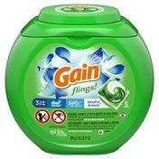 Gain Flings Liquid Laundry Detergent Pacs, Blissful Breeze