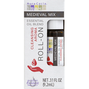 Aura Cacia Essential Oil Blend, Cleansing Aroma, Medieval Mix, Roll-On