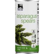 Food Lion Asparagus Spears, Can