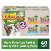 Purina Friskies Natural Wet Cat Food Variety Pack, Farm Favorites