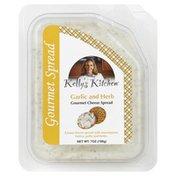Kellys Kitchen Cheese Spread, Gourmet, Garlic and Herb