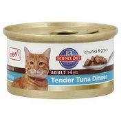 Hill's Science Diet Cat Food, Premium, Adult, Tender Tuna Dinner