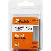 Paslode Brad Nails, Galvanized, Straight, 38mm