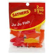 Sather's Candy, Ju Ju Fish, Pre-Priced, Bag
