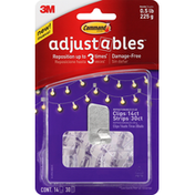 3M Command Clips Strips, Adjustables, Repositionable