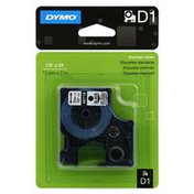 Dymo Label Cassette Replacement, D1, Standard Labels, Black on Clear