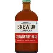 Brew Dr. Kombucha Kombucha, Organic, Strawberry Basil
