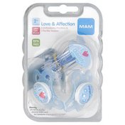 MAM Orthodontic Pacifiers & Pacifier Keeper, Love & Affection, 2+ Months