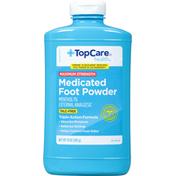 TopCare Foot Powder, Medicated, Maximum Strength