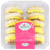 Sweet P's Frosted Yellow Sugar Cookies