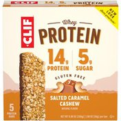 CLIF BAR Whey Protein Salted Caramel Cashew Protein Bars