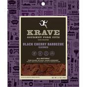 KRAVE Pork Cuts, Gourmet, Black Cherry Barbeque, Seasoned