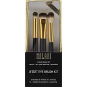 Milani Jetset Eye Brush Kit, 3 Piece