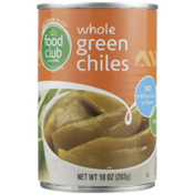 Food Club Mild Whole Green Chiles