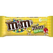 M&M's Peanut Chocolate Candy Fun Size Pouch