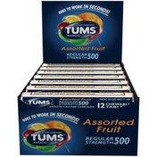 Abreva Regular Strength 500 Assorted Fruit Chewable Tablets Antacid