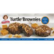 Little Debbie Turtle Brownies, Specialty Recipe, Caramel, Peanuts & Fudge Topping