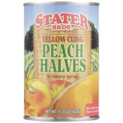 Stater Bros. Markets Yellow Cling Peach Halves in Heavy Syrup
