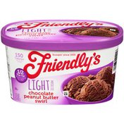 Friendly's Chocolate Peanut Butter Swirl Light Ice Cream