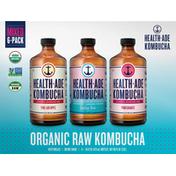 Health-Ade Kombucha, Organic, Raw, Mixed, 6 Pack
