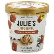 Julies Organic Ice Cream, Sea Salt Caramel