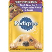 Pedigree Choice Cuts in Gravy Beef, Noodles & Vegetables Flavor in Sauce Wet Dog Food