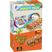 Reese's Puffs and Cinnamon Toast Crunch, Breakfast Bar Variety Pack, 28 Bars