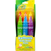 Crayola Body Wash Pens, Bathtub, 3+