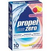 Propel Zero Raspberry Lemonade Zero Calorie Nutrient Enhanced Powder Water Beverage Mix