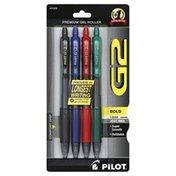 Pilot Gel Roller Pens, Premium, Bold Point (1.0 mm), Assorted Inks