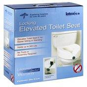 Medline Elevated Toilet Seat, Locking