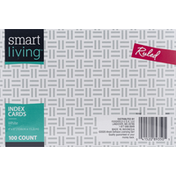 Smart Living Index Cards, White, Ruled