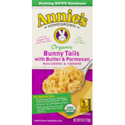 Annie's Homegrown Organic Macaroni & Cheese Bunny Tails with Butter & Parmesan