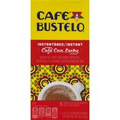 Café Bustelo Coffee Beverage Mix, Instant, Cafe Con Leche, Single Serve Packets