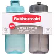 Rubbermaid Water Bottle, Reflecting Pool/Cool Grey, 20 Fluid Ounce