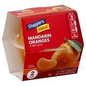 Shoppers Value Oranges, Mandarin, in Light Syrup