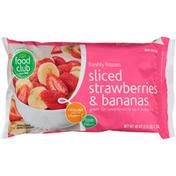 Food Club Freshly Frozen Sliced Strawberries & Bananas
