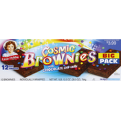 Little Debbie Brownies, Cosmic, with Chocolate Chip Candy, Big Pack