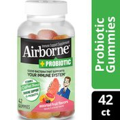 Airborne® Plus Probiotic Gummies - 750mg of Vitamin C - Immune Support Supplement (Packaging May Vary)