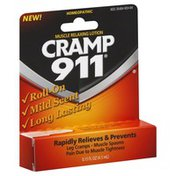 Cramp 911 Muscle Relaxing Lotion, Roll-On, Mild Scent