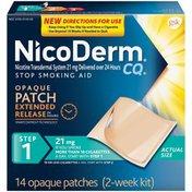 Nicoderm Cq Step 1 Opaque 21mg Patches Stop Smoking Aid