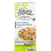 Nature's Promise Vegetable Broth, Low Sodium