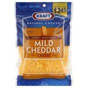 Kraft Cheese, Shredded, Natural, Mild Cheddar