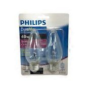 Philips 40 Watts Sparkling Clear Flame DuraMax Light Bulbs