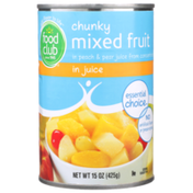 Food Club Chunky Mixed Fruit In Peach & Pear Juice From Concentrate