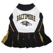 Pets First Medium Baltimore Ravens NFL Cheerleader Uniform Dog Costume