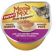 Meow Mix Pate Toppers with Real Whitefish Topped with Flakes of Salmon Wet Cat Food