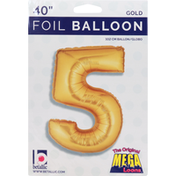 Betallic Balloon, Foil, 40 Inch, Gold