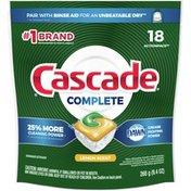 Cascade Complete Actionpacs Dishwasher Detergent Pods, Lemon