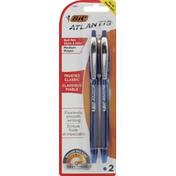 BiC Ball Pens, Retractable, Medium, Blue